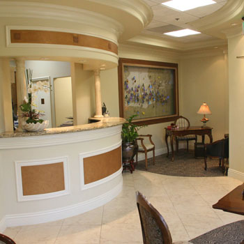 Front Desk of Claire Cho DDS.